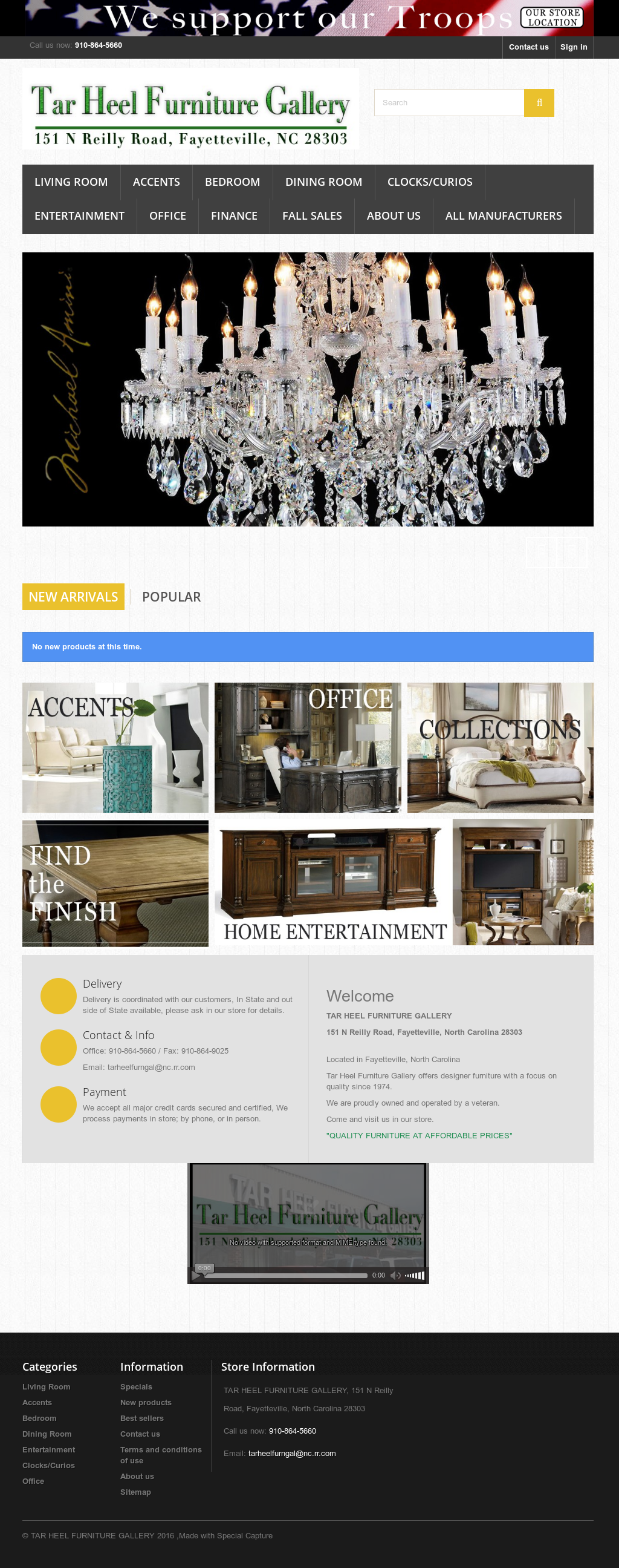 Tar Heel Furniture Gallery Website History