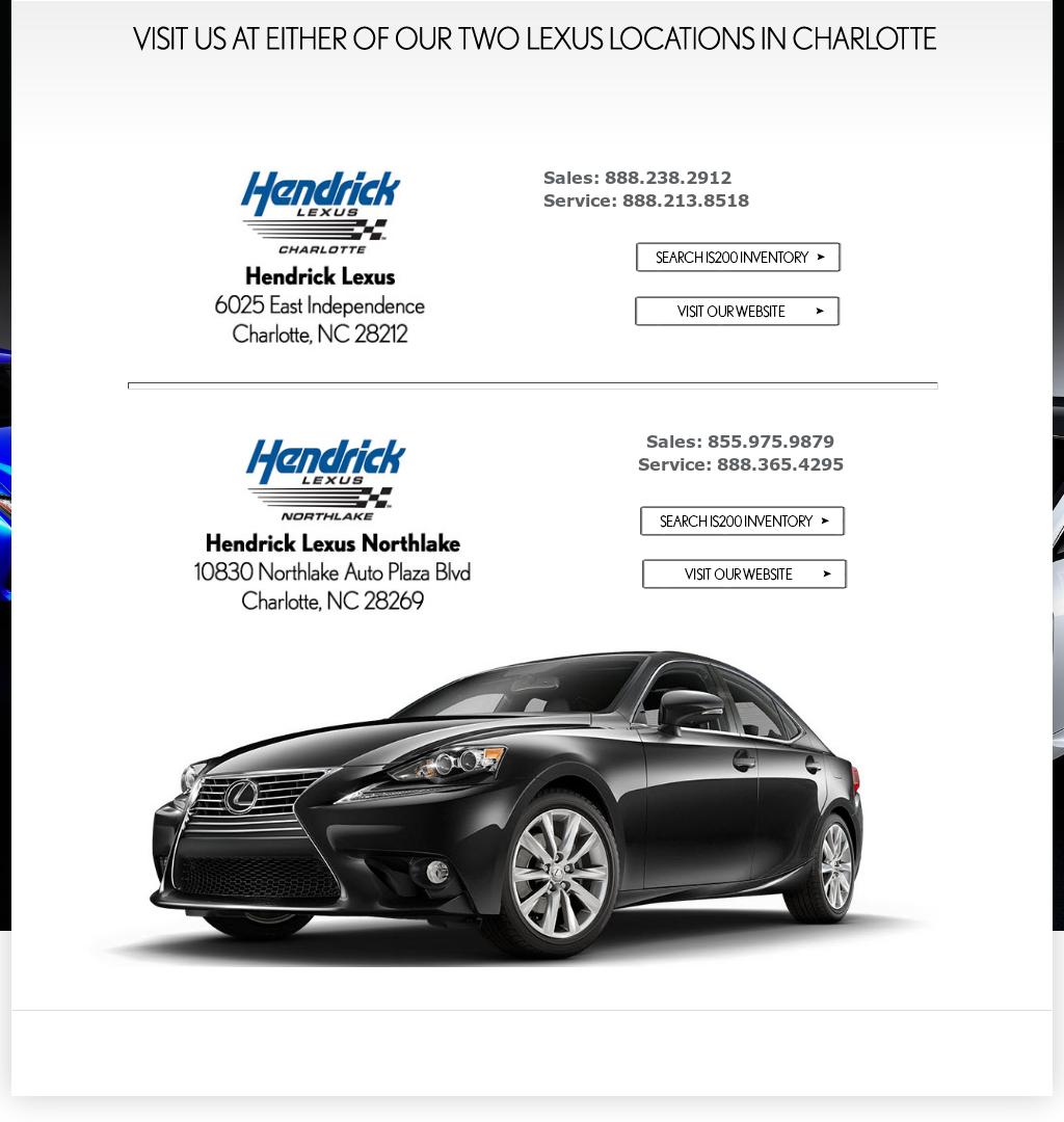 Hendrick Lexus Charlotte >> Hendricklexus Competitors Revenue And Employees Owler