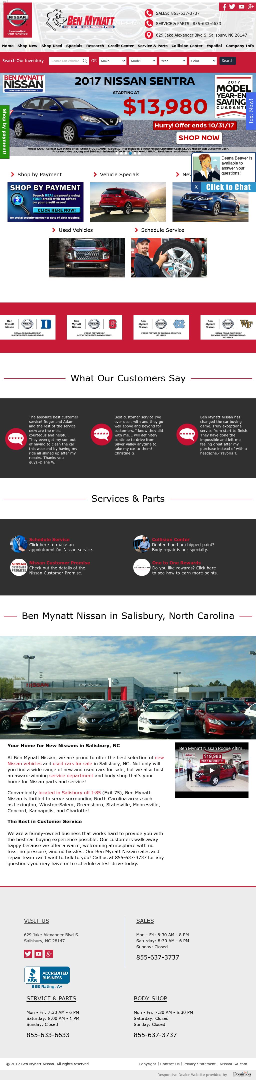 Ben Mynatt Nissan Competitors, Revenue and Employees - Owler Company ...