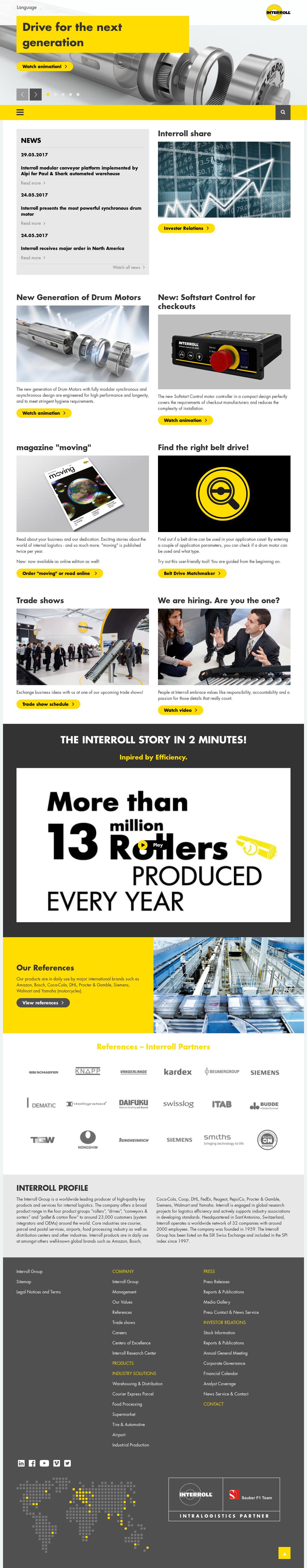 Interroll petitors Revenue and Employees Owler pany Profile