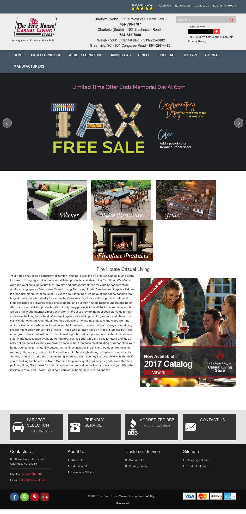 Bon Firehouse Casual Living Store Website History