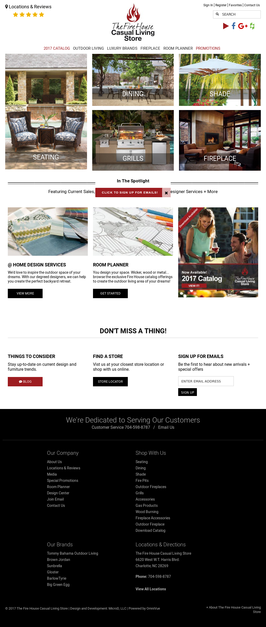Firehouse Casual Living Store Website History