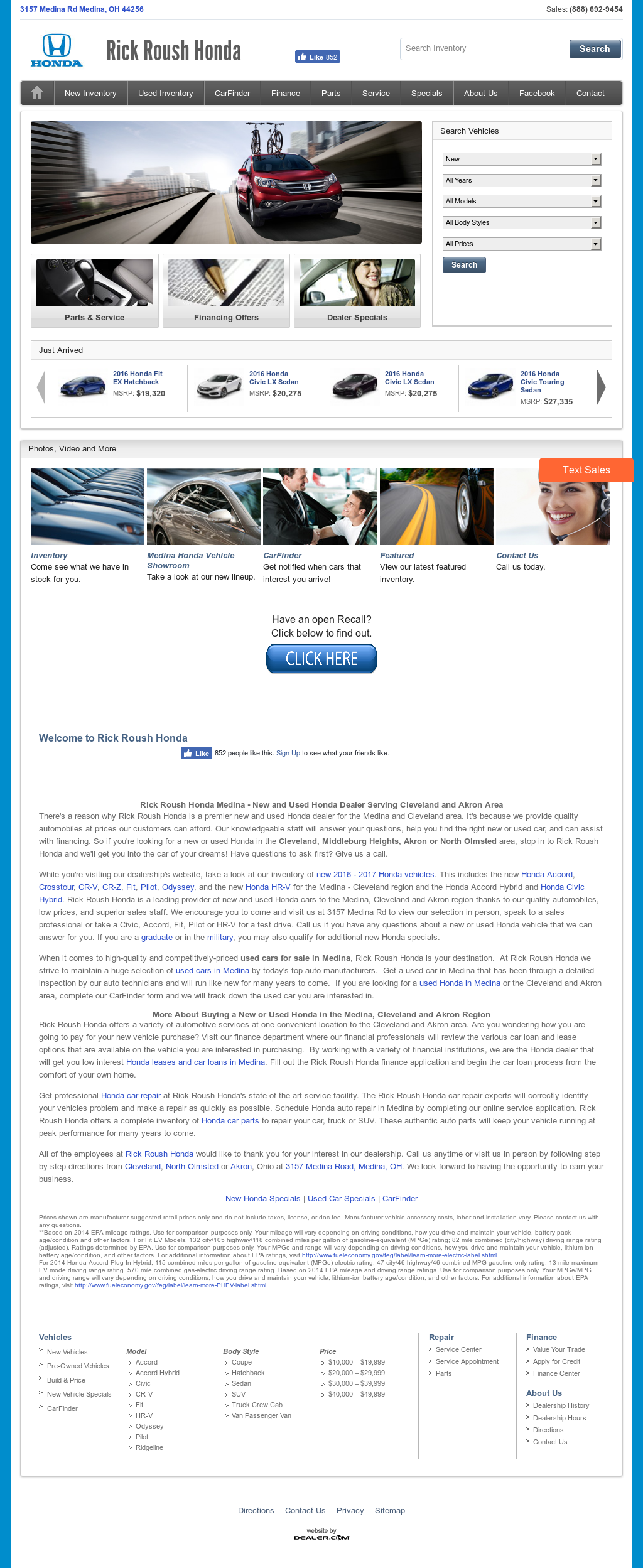Rick Roush Honda Competitors, Revenue And Employees   Owler Company Profile