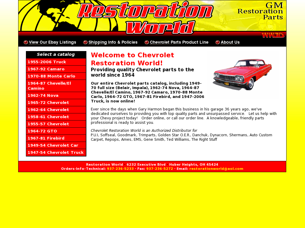 Restoration World Competitors Revenue And Employees Owler Company 1964 Chevy Truck Parts Catalog Profile