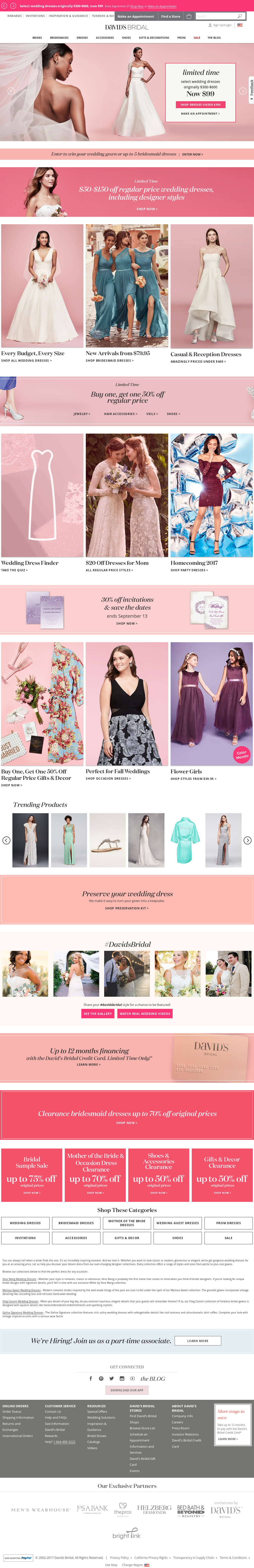 David S Bridal Compeors Revenue And