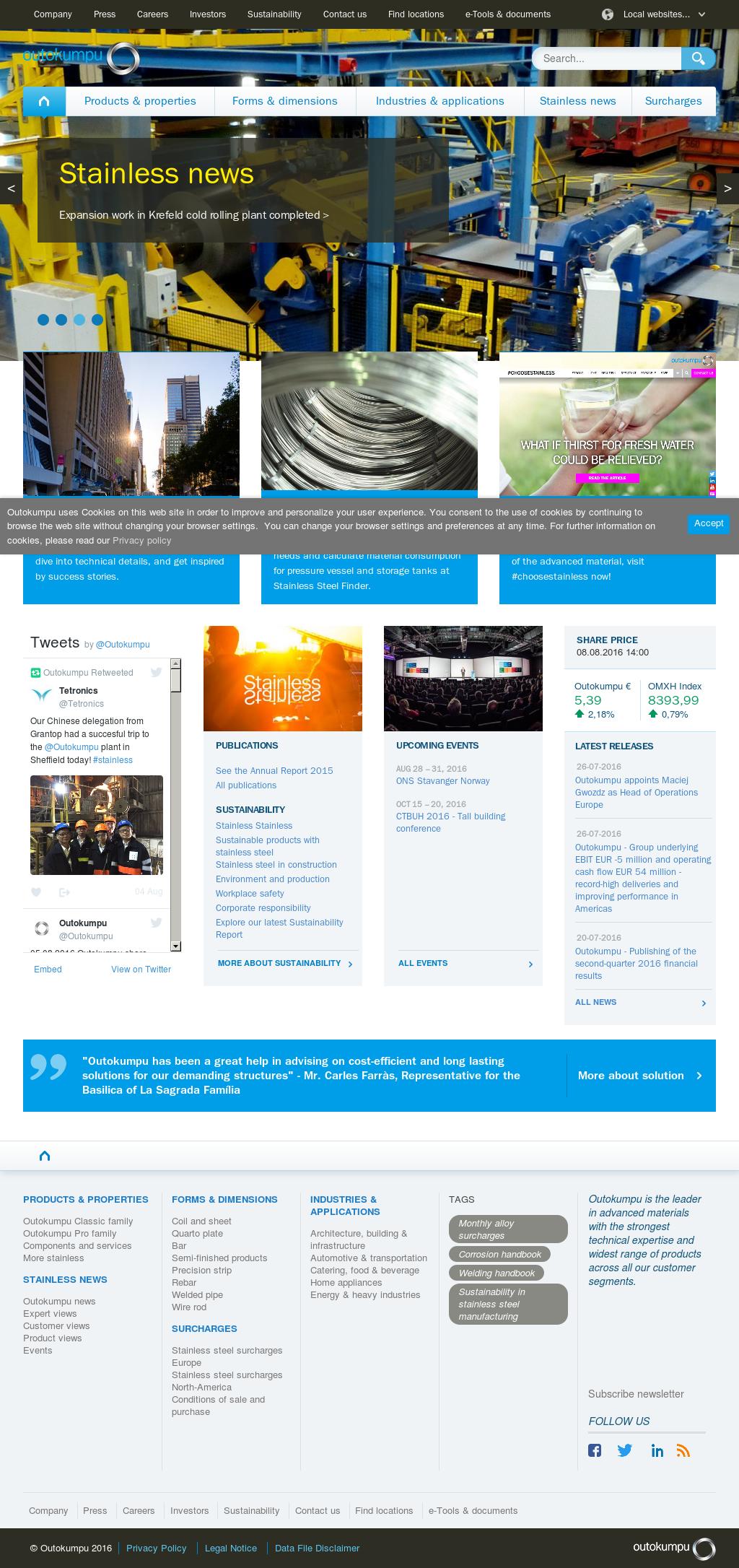 Outokumpu Competitors, Revenue and Employees - Owler Company