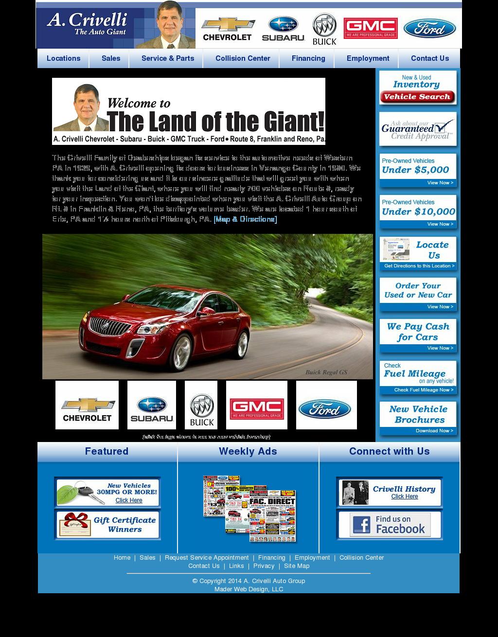 A Crivelli Chevrolet Subaru Competitors Revenue And