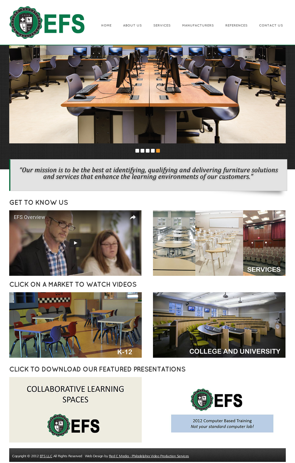 Educational Furniture Solutions Website History
