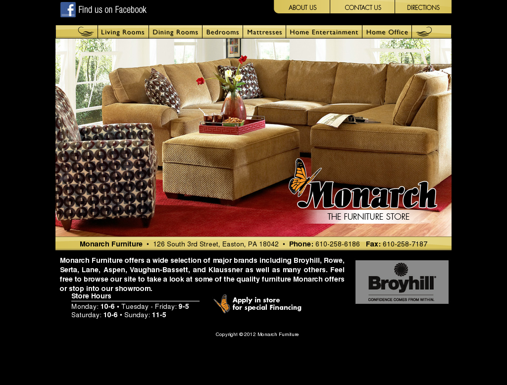 monarch furniture store competitors, revenue and employees