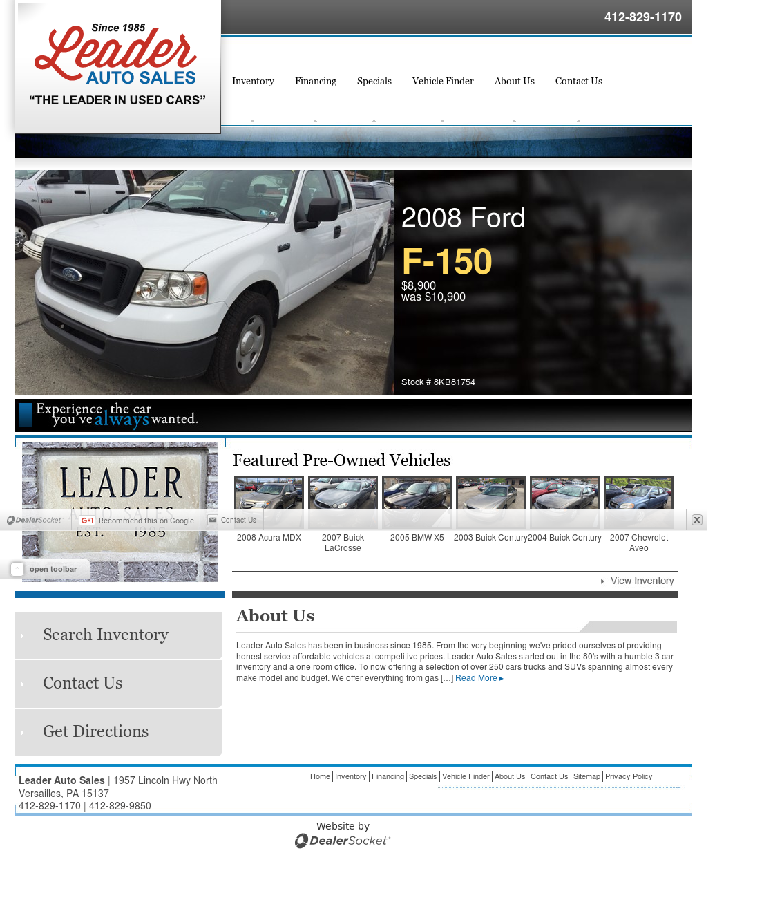 Leader Auto Sales >> Leader Auto Sales Competitors Revenue And Employees Owler