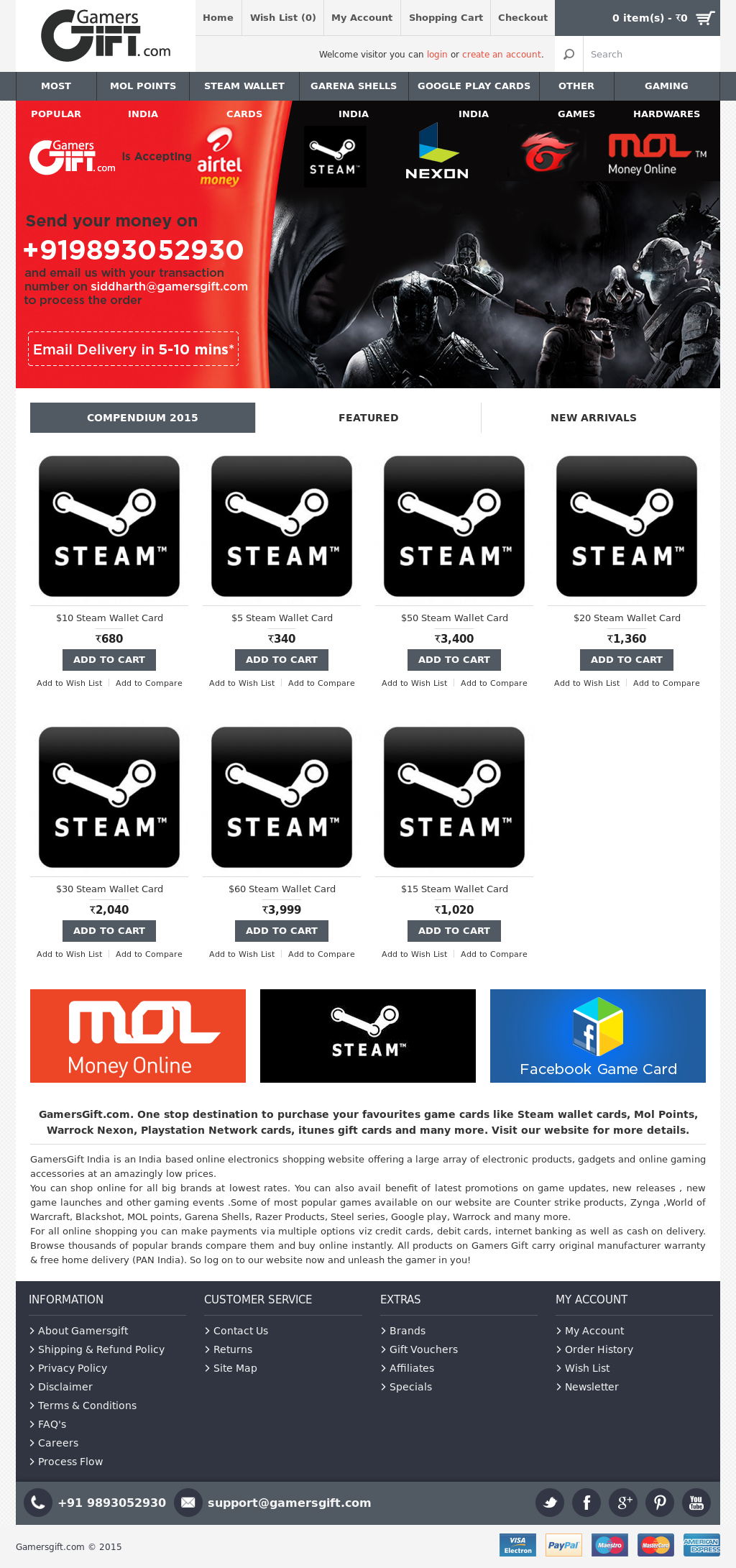Owler Reports Press Release Gamersgift Steam Wallet Cards Of 20 Different Dimensions At Gamers Gift For You