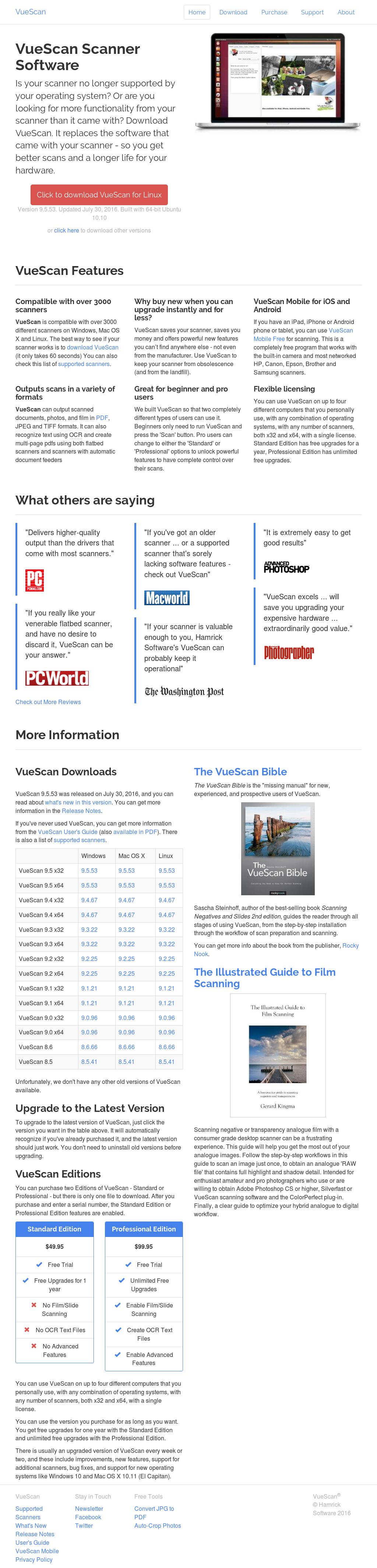 Owler Reports - Press Release: VueScan : Hamrick Software Reaches