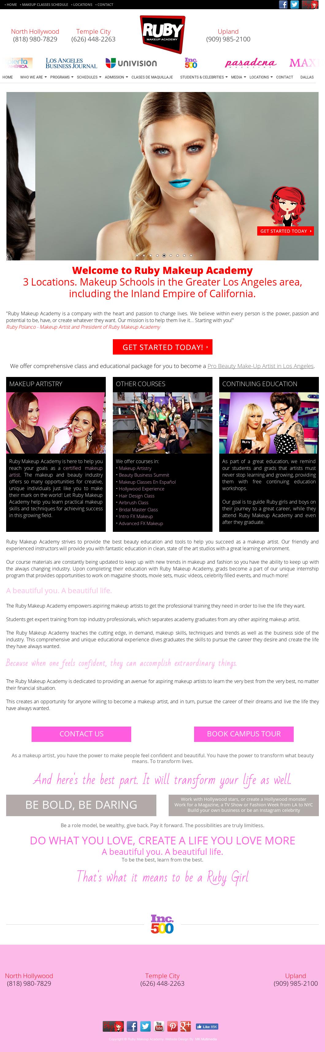 Website History. Website History. Ruby Makeup Academy ...