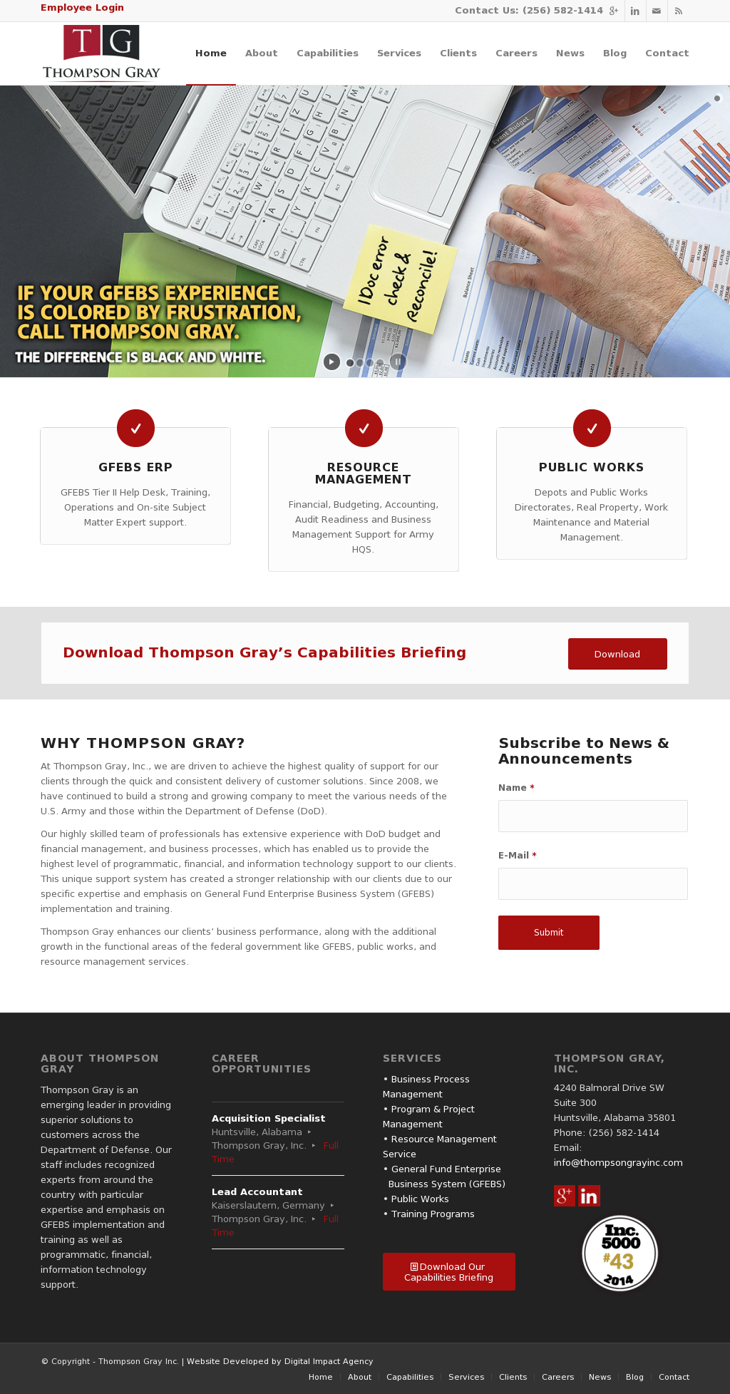 Thompsongrayinc Competitors Revenue And Employees Owler Company