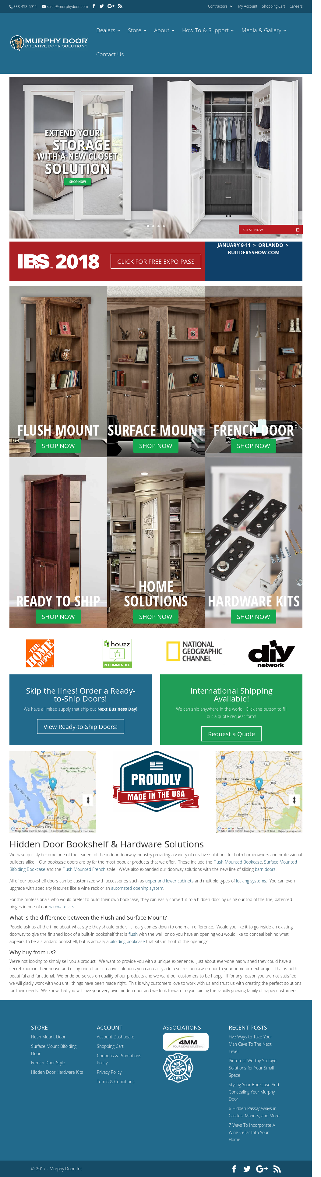 The Murphy Door Website History