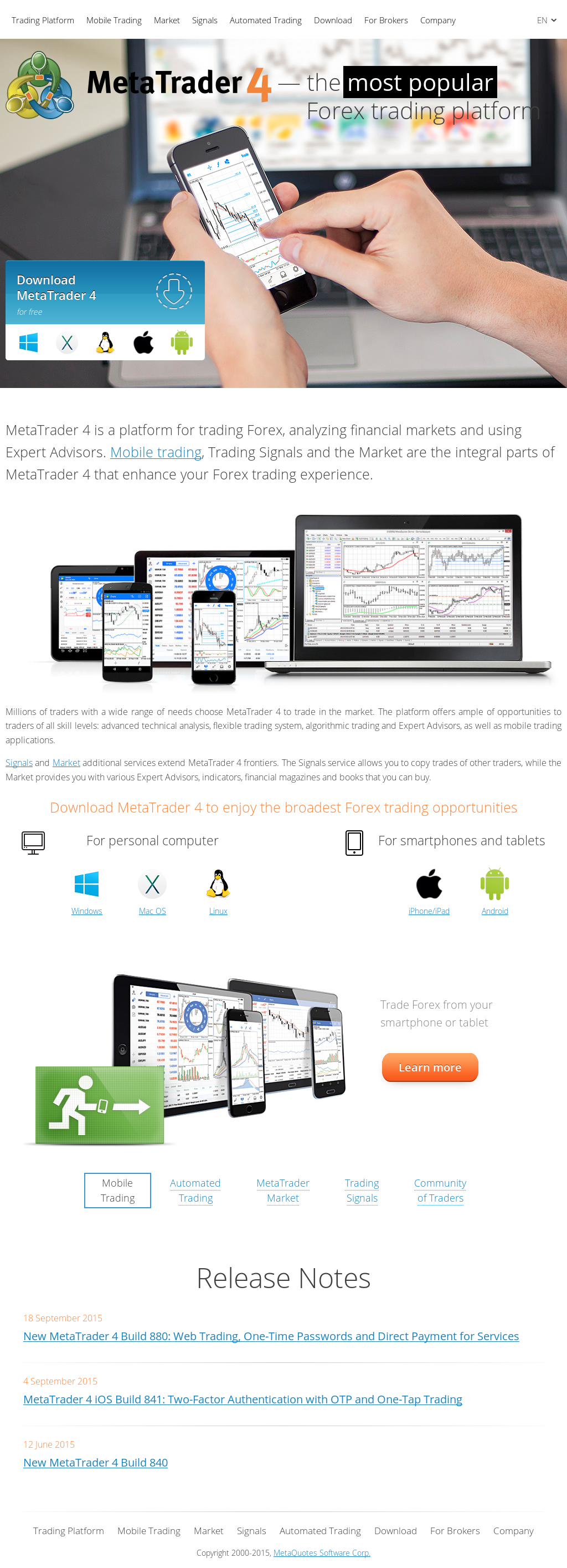 MetaTrader 4 Competitors, Revenue and Employees - Owler