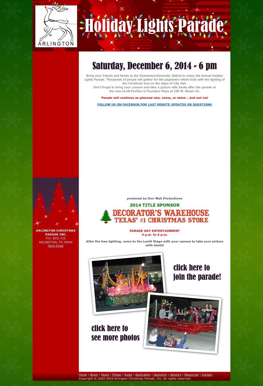 arlington tx holiday lights parade competitors revenue and