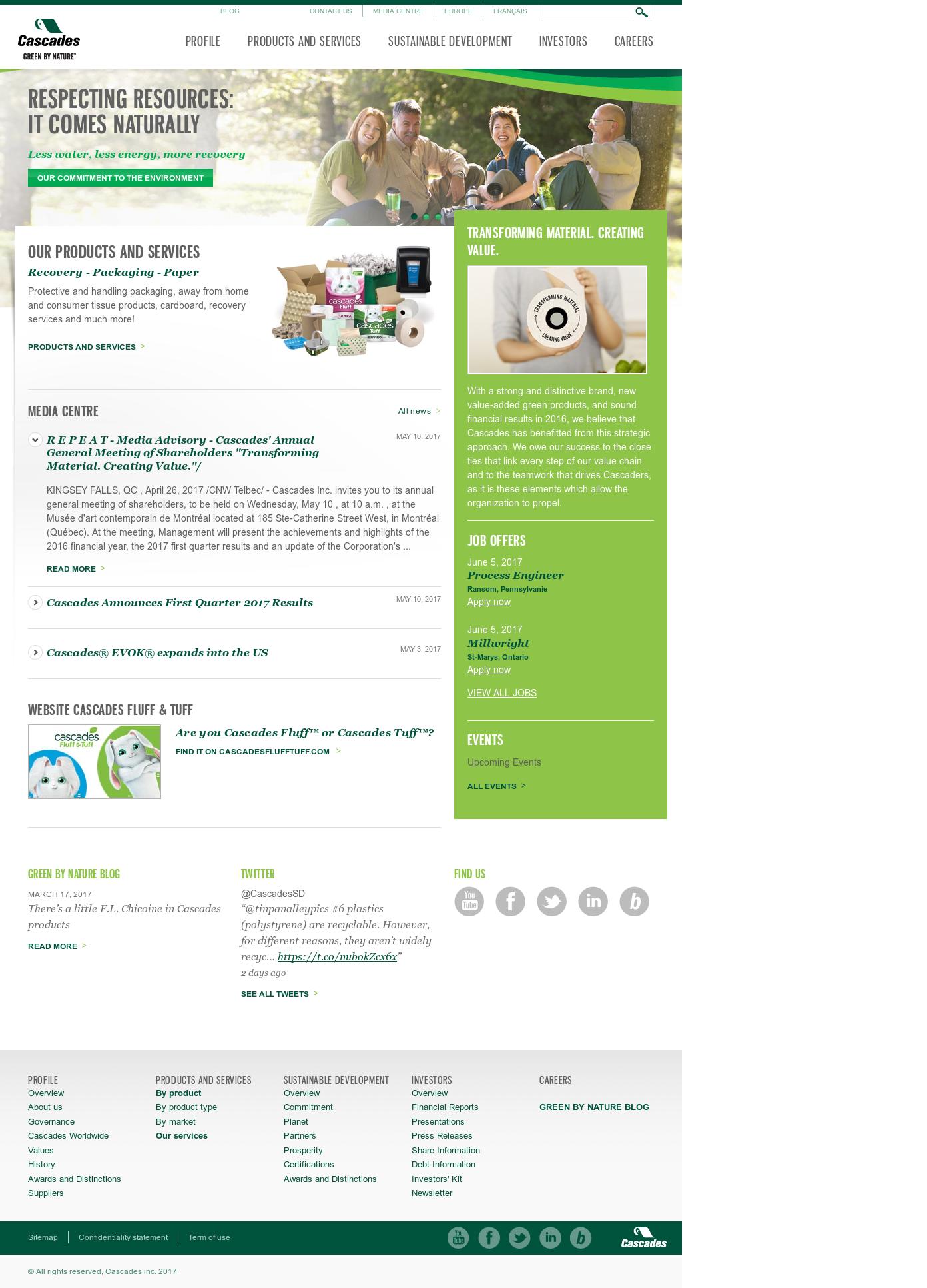 Kia Trois Rivières >> Cascades Competitors Revenue And Employees Owler Company Profile
