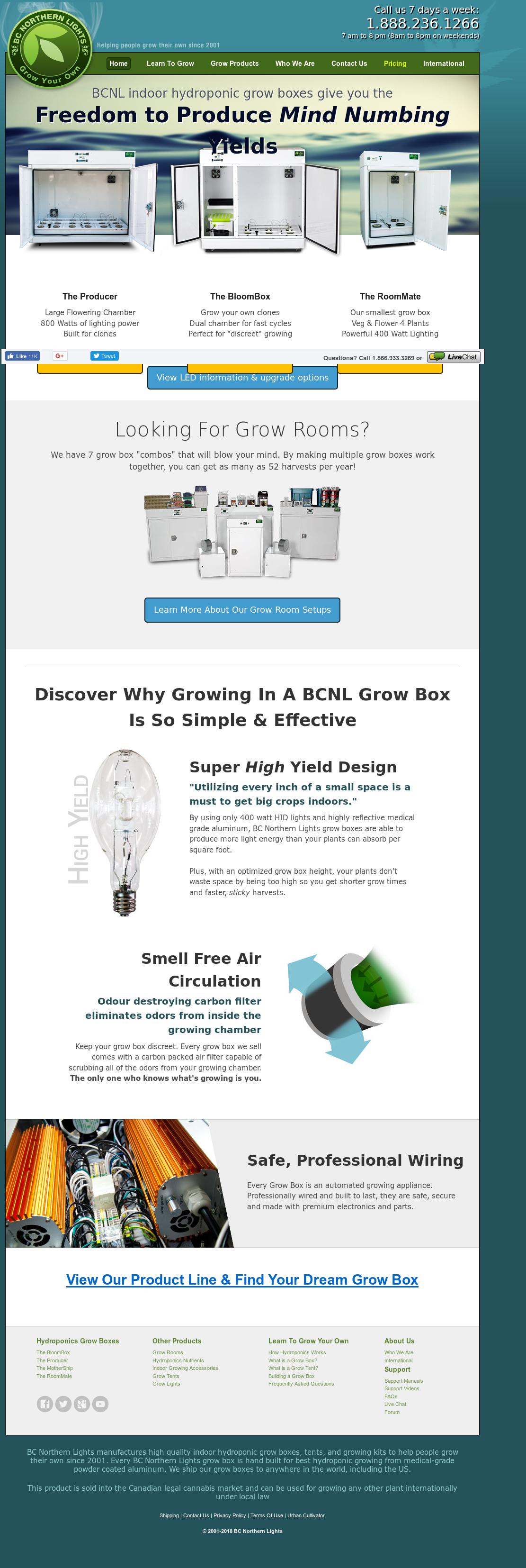 BC Northern Lights Website History