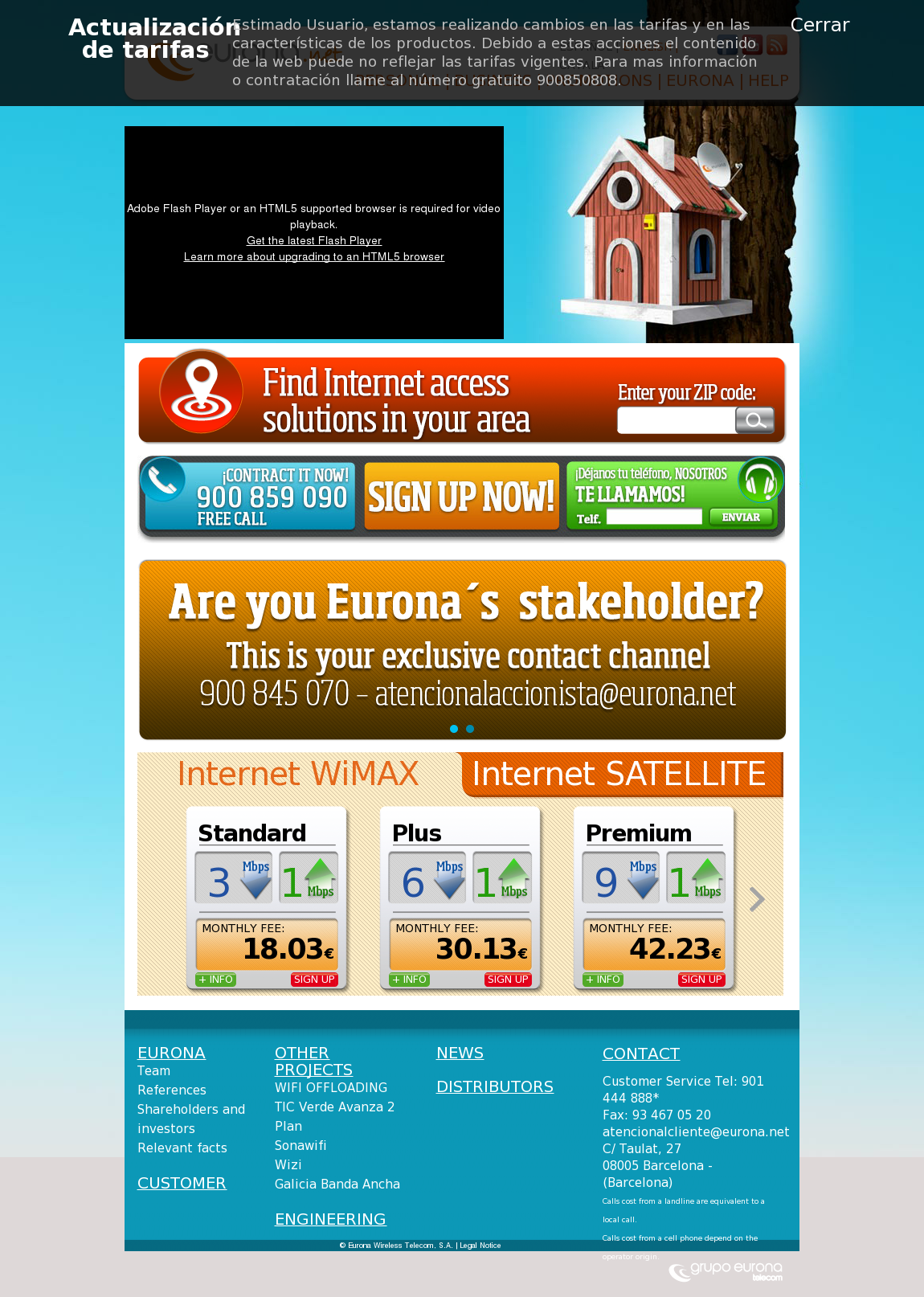 Eurona Wireless Telecom Competitors, Revenue and Employees
