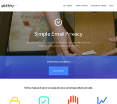 Virtru website history