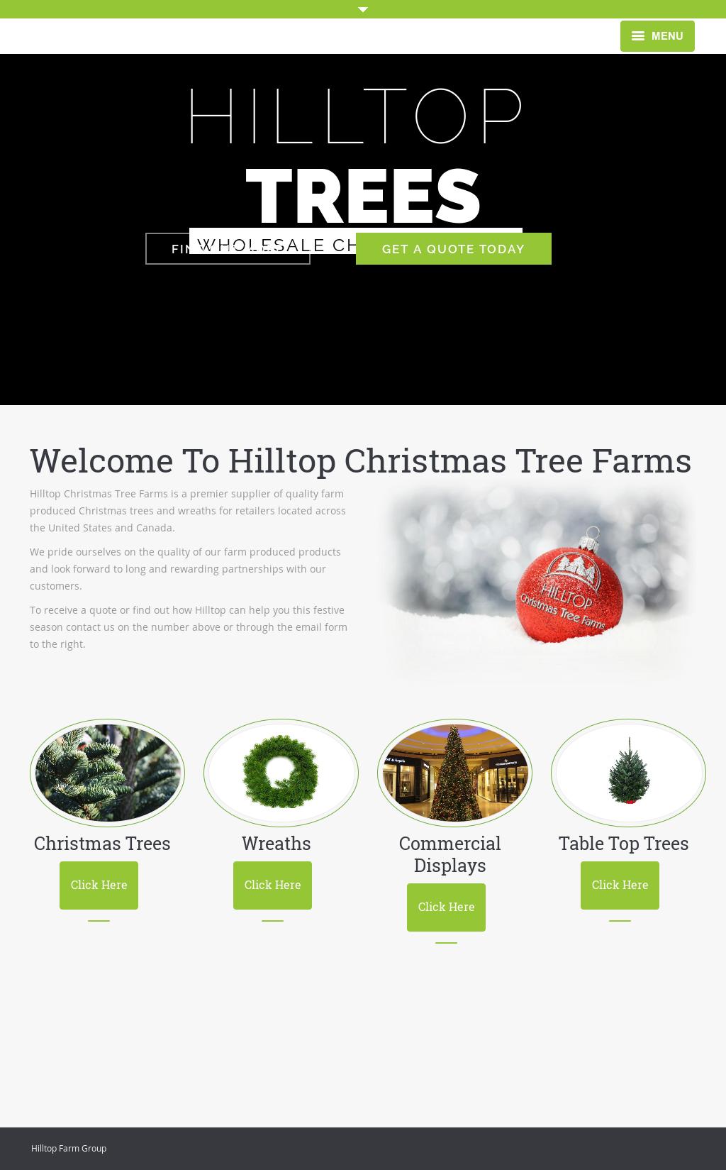 hilltop christmas tree website history - Hilltop Christmas