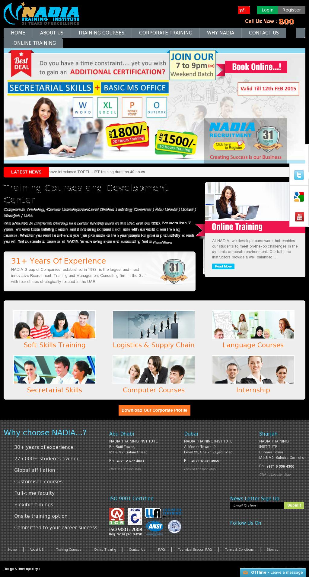 NADIA Training Institute Competitors, Revenue and Employees