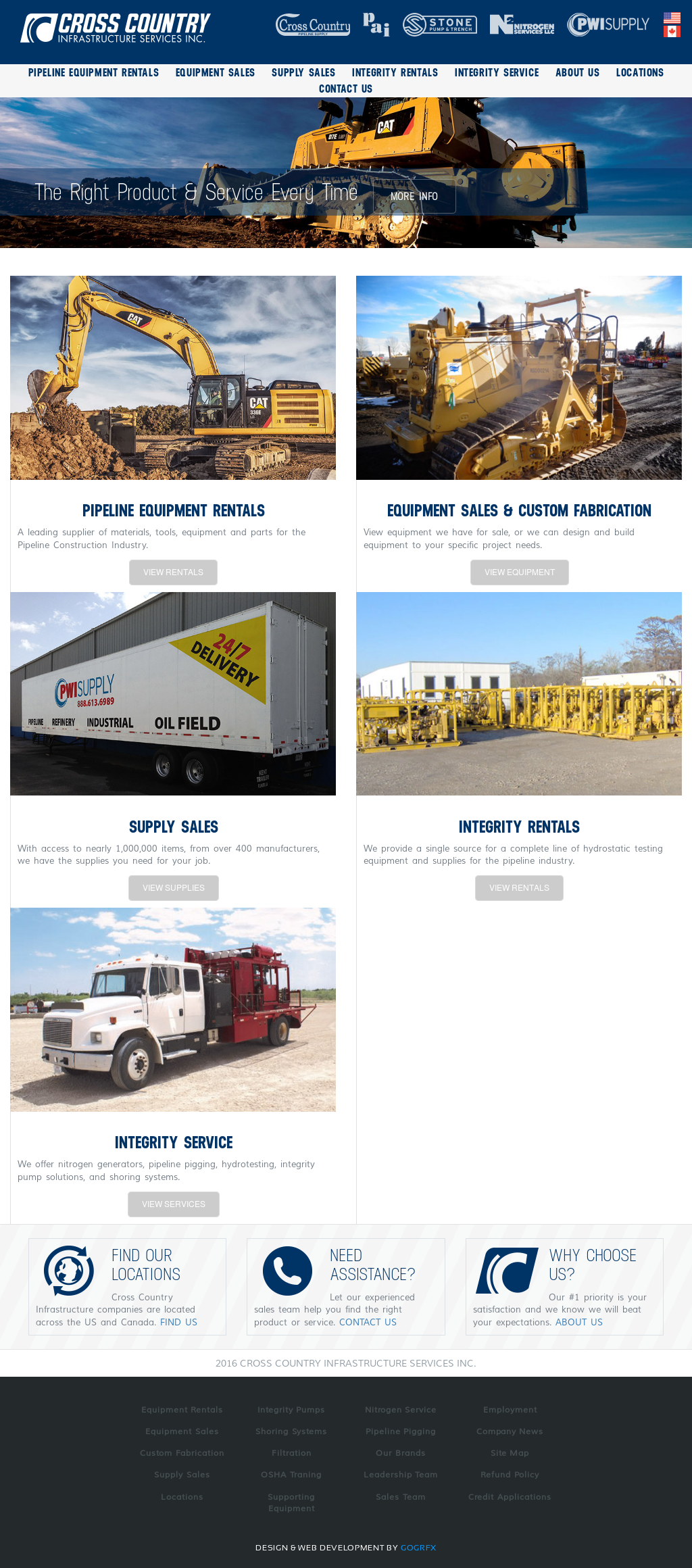Cross Country Pipeline Supply Competitors, Revenue and