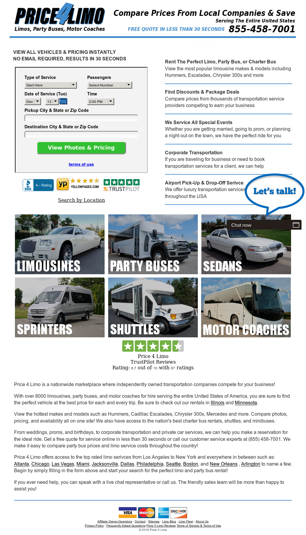 Price 4 Limo Competitors, Revenue and Employees - Owler