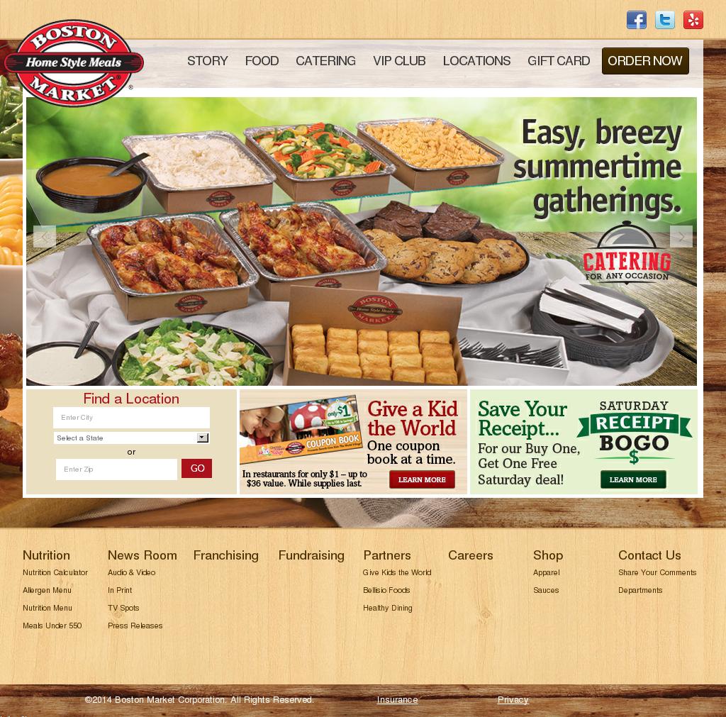 Boston Market website history