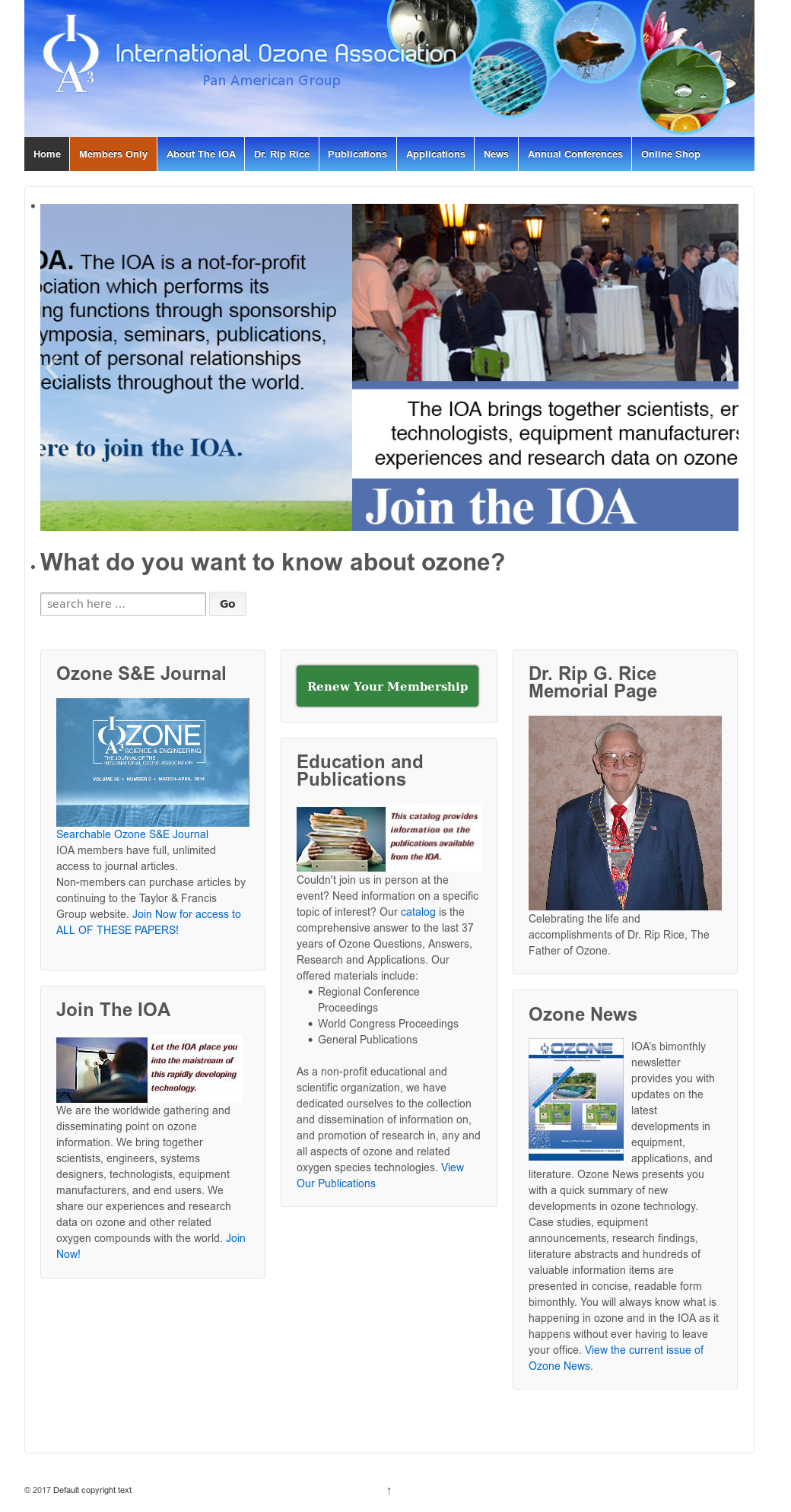 International Ozone Association-Pan American Group Branch