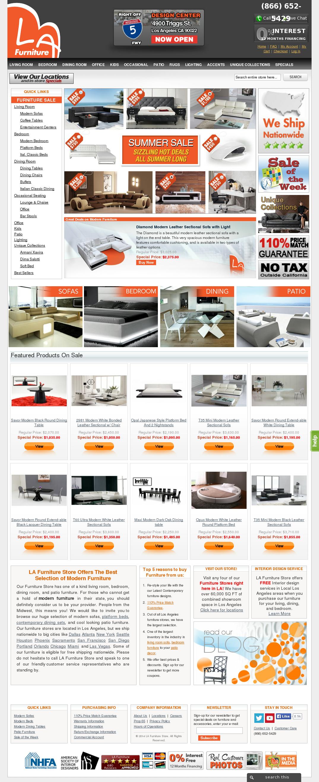 furniture store newspaper ads. LA Furniture Website History Store Newspaper Ads