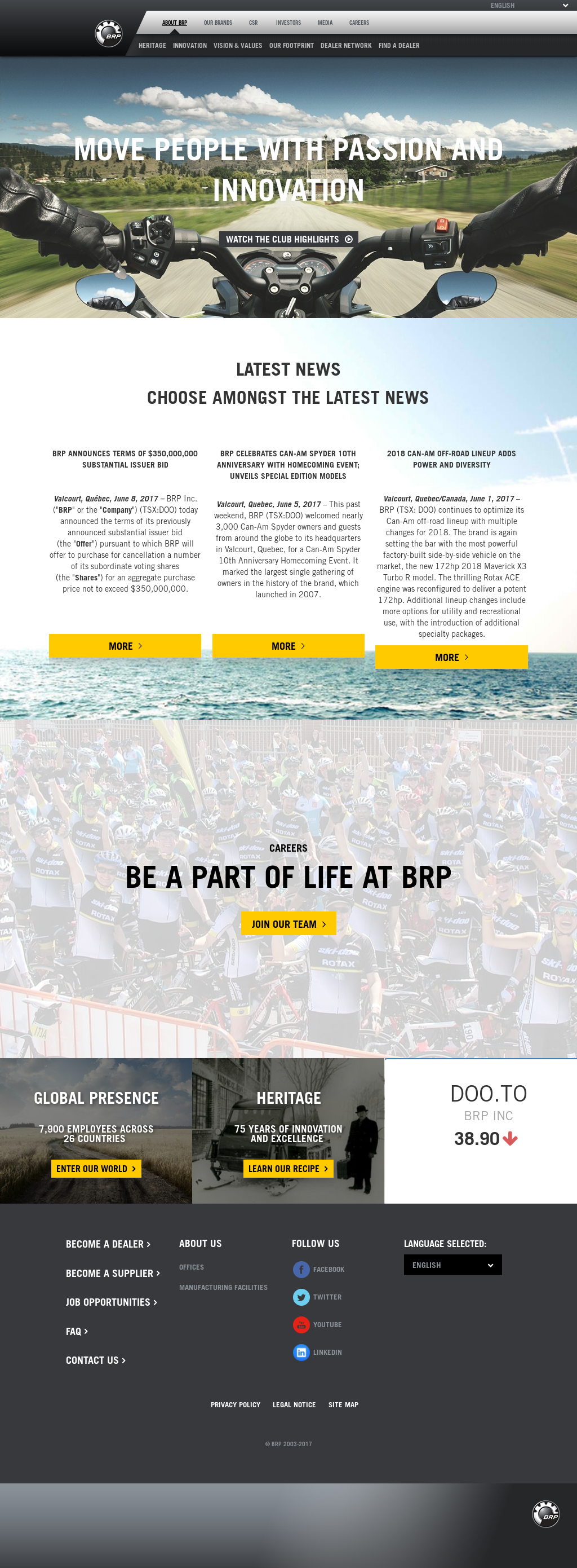 BRP Competitors, Revenue and Employees - Owler Company Profile