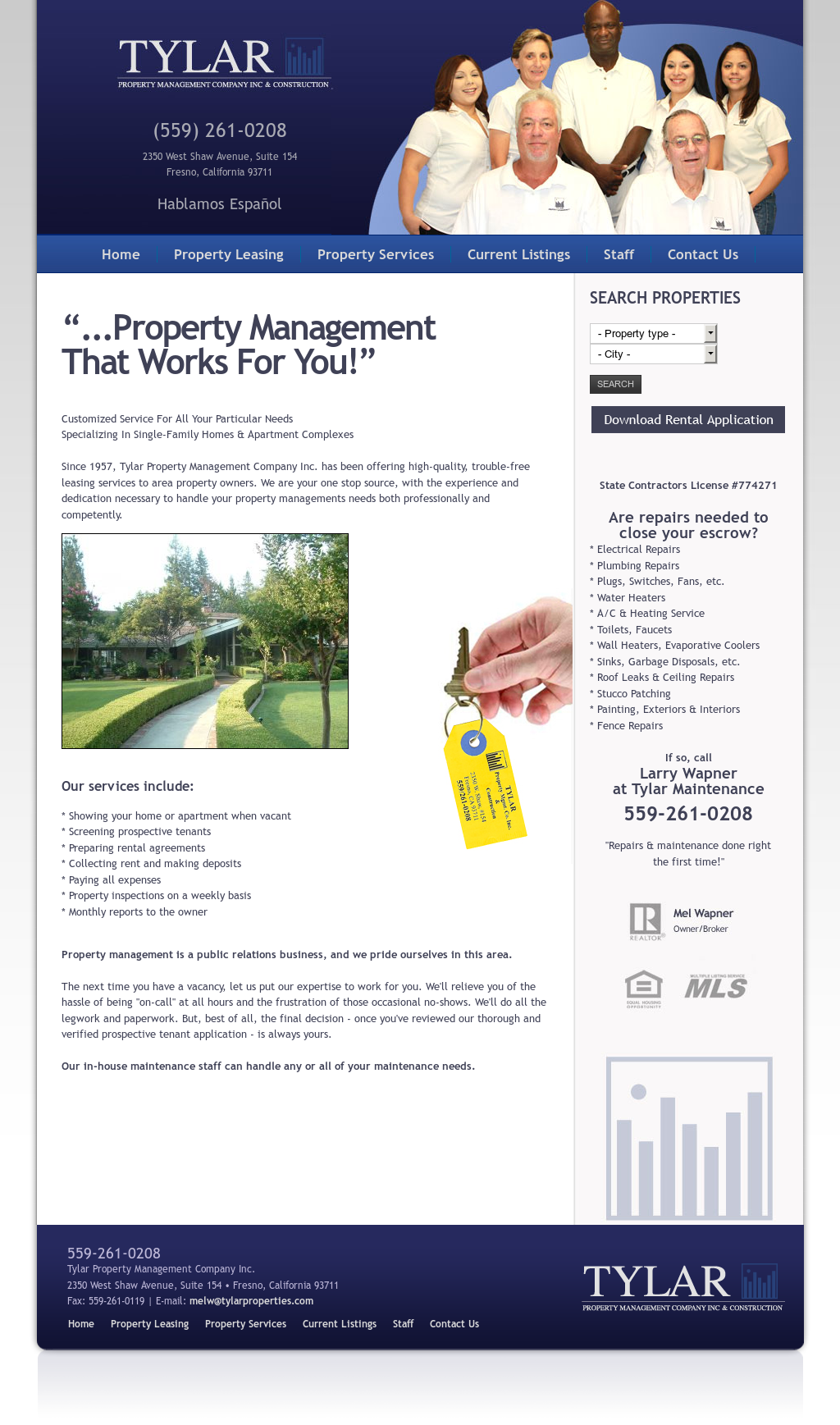Tylar Property Management Competitors, Revenue and Employees