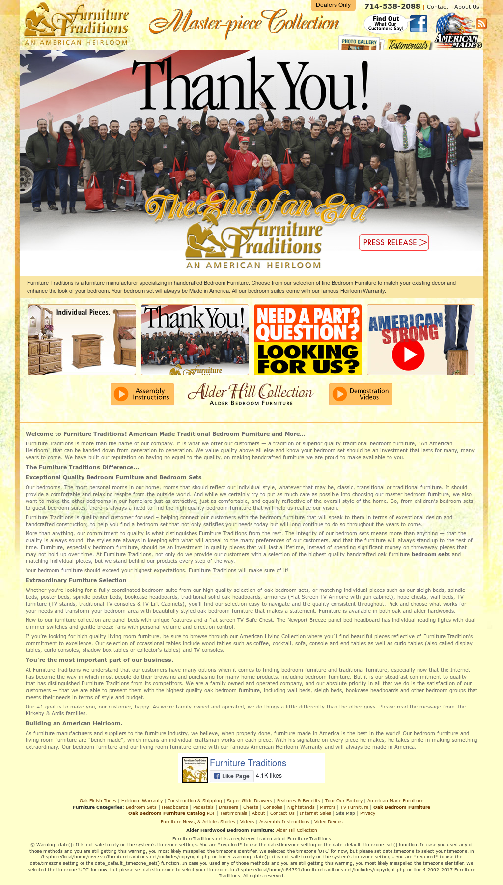 Furniture Traditions Website History