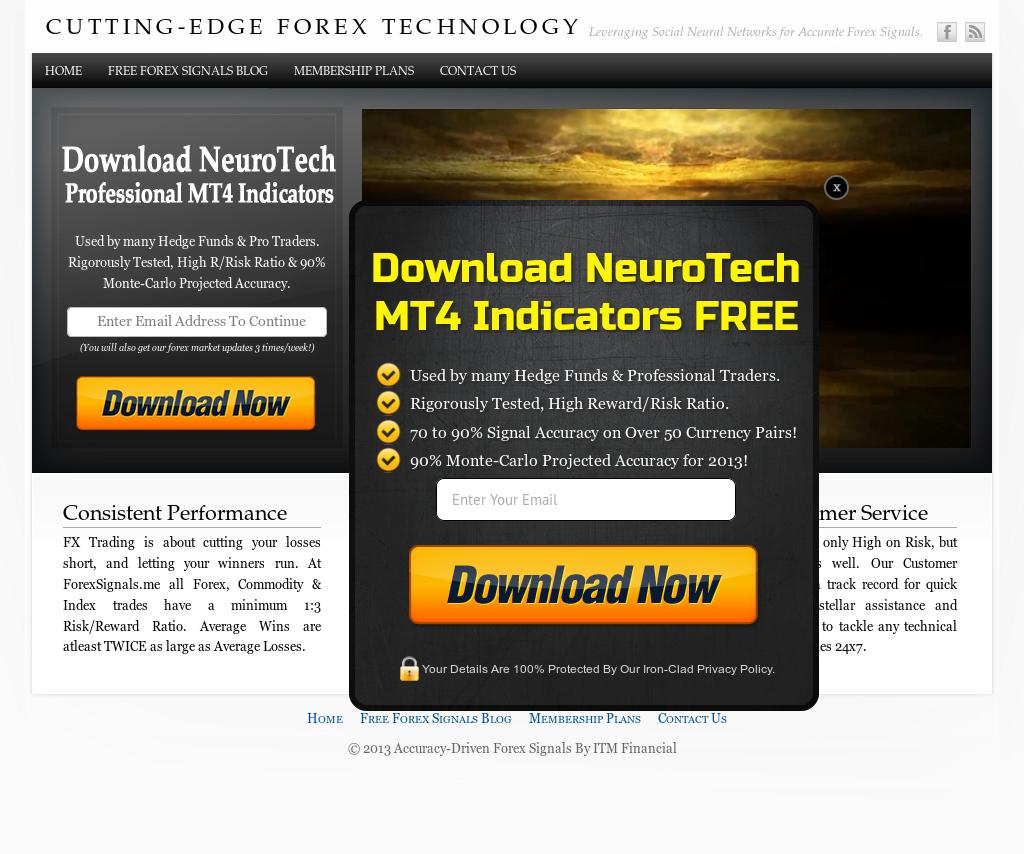 Forex signals website design