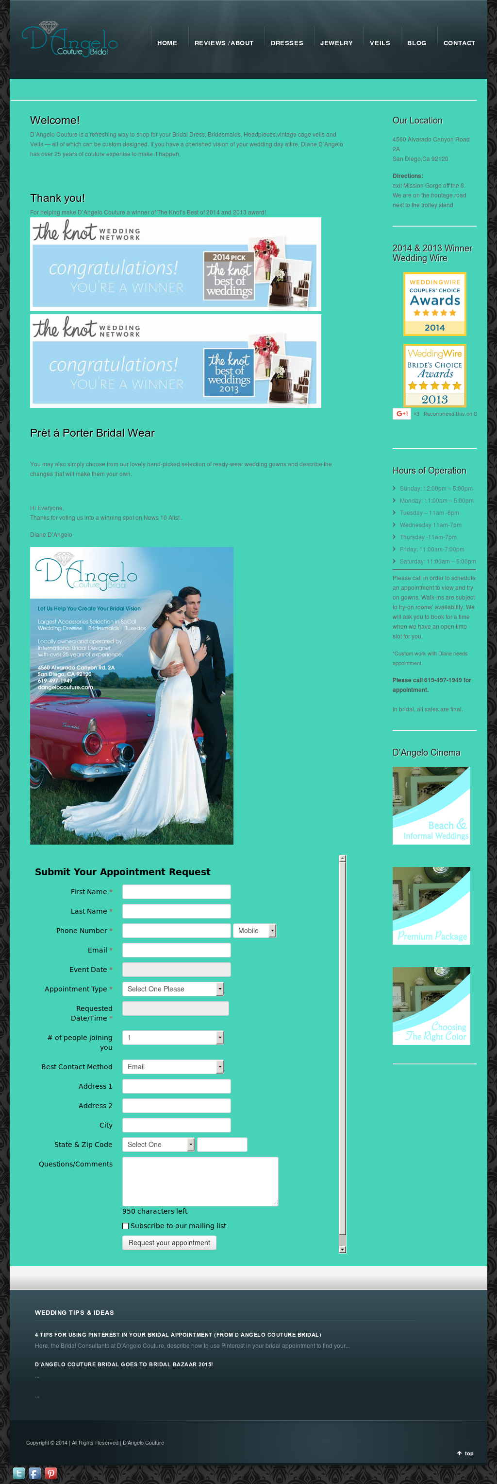 D\'Angelo Couture Bridal Store Competitors, Revenue and Employees ...