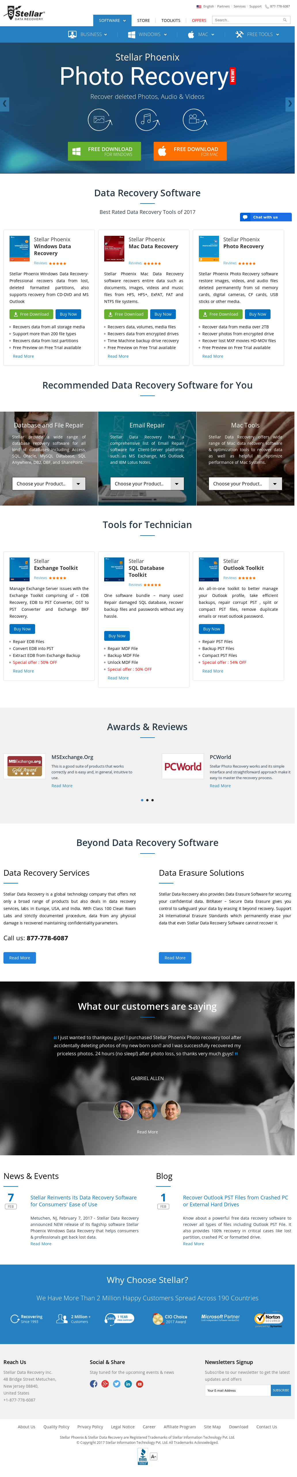 Stellar Data Recovery Competitors, Revenue and Employees