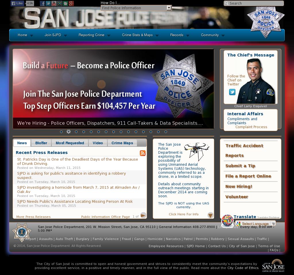 San Jose Police Department Competitors, Revenue and