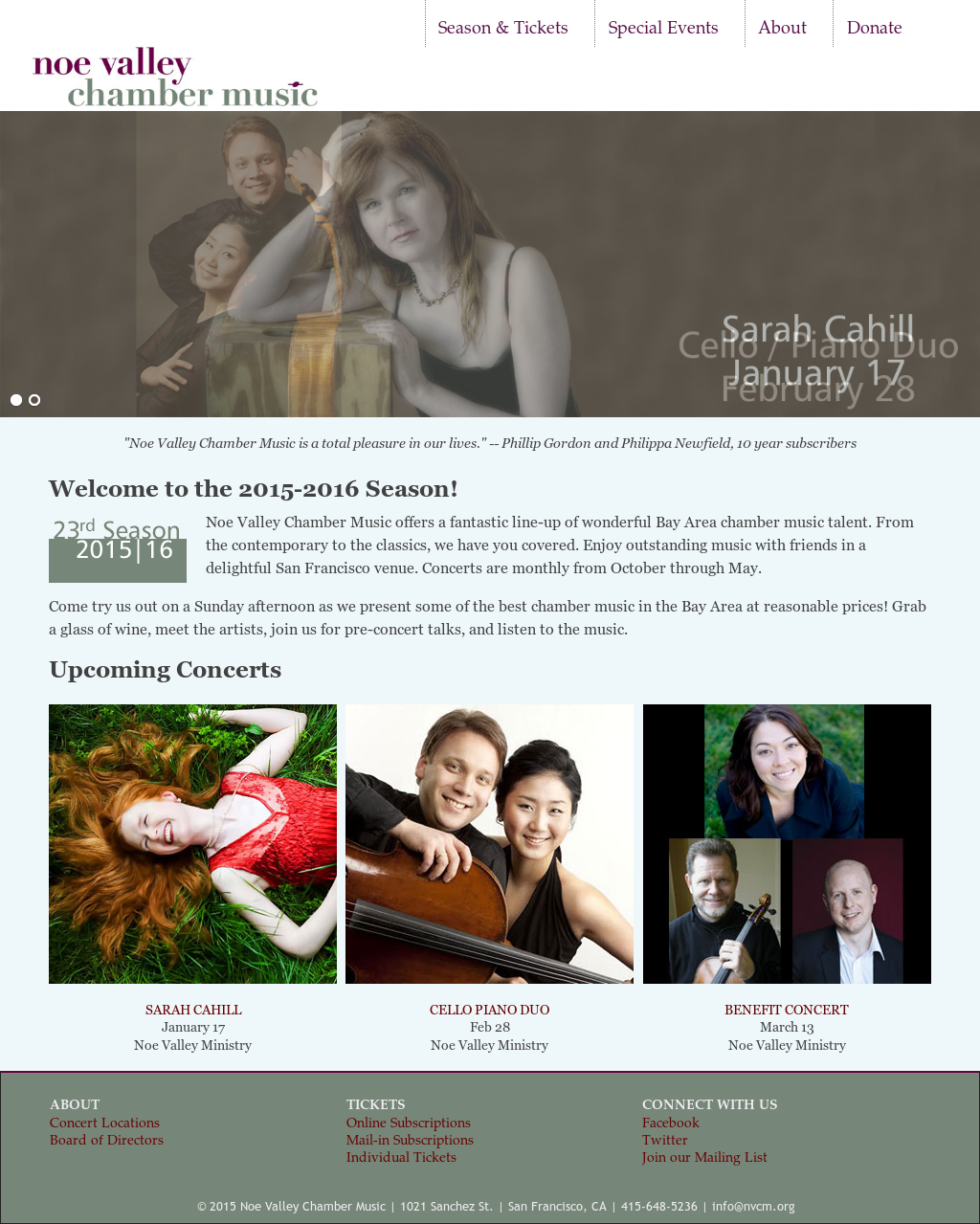 Noe Valley Chamber Music Competitors, Revenue and Employees