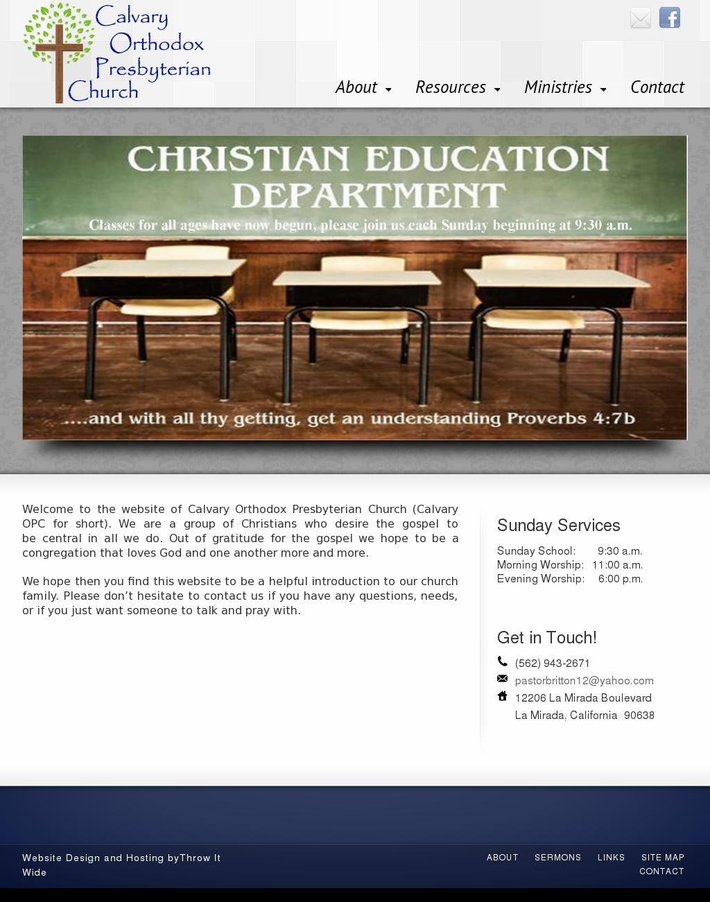 Calvary Orthodox Presbyterian Competitors, Revenue and Employees