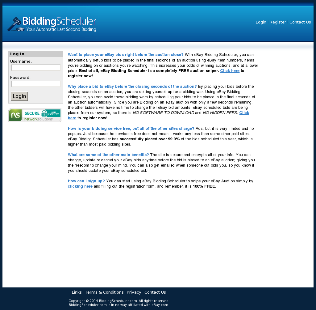 eBay Bidding Scheduler Competitors, Revenue and Employees