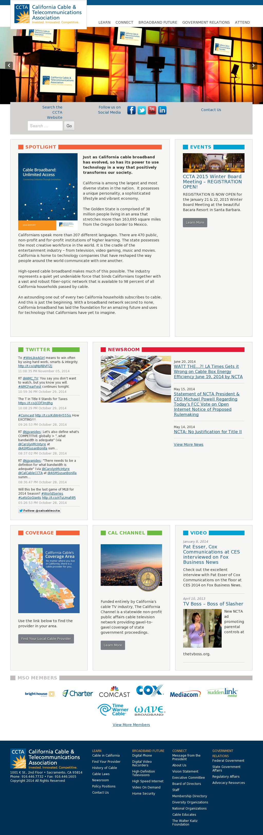 California Cable & Telecommunications Association Competitors
