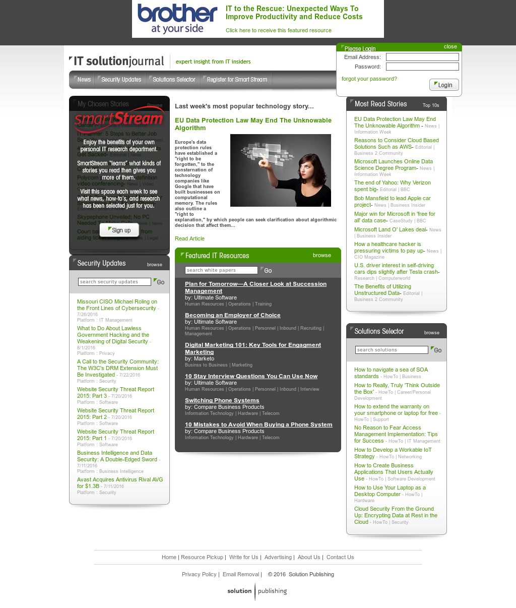 IT Solution Journal a Solution Publishing Journal
