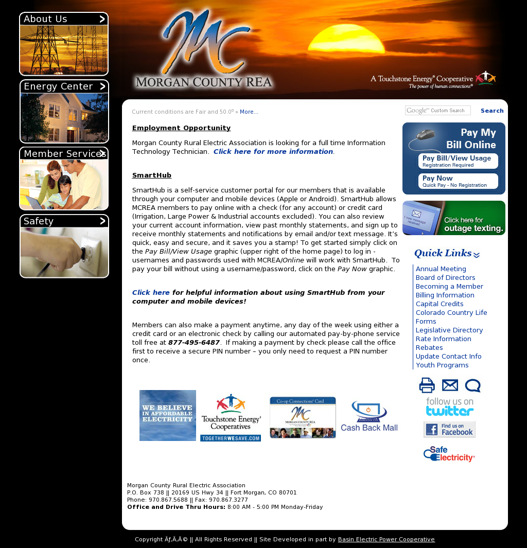 Morgan County Rural Electric Association Company Profile Revenue Employees Funding News