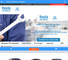 Honda Of Downtown LA Website History