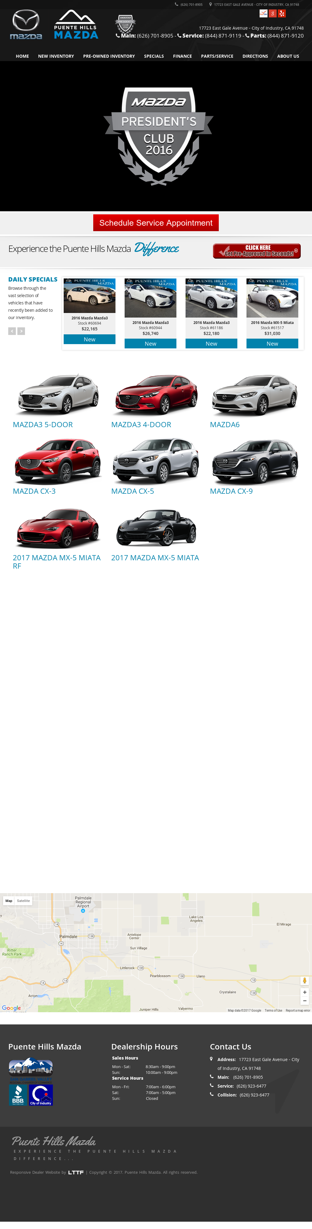 Mazda Of Puente Hills Website History