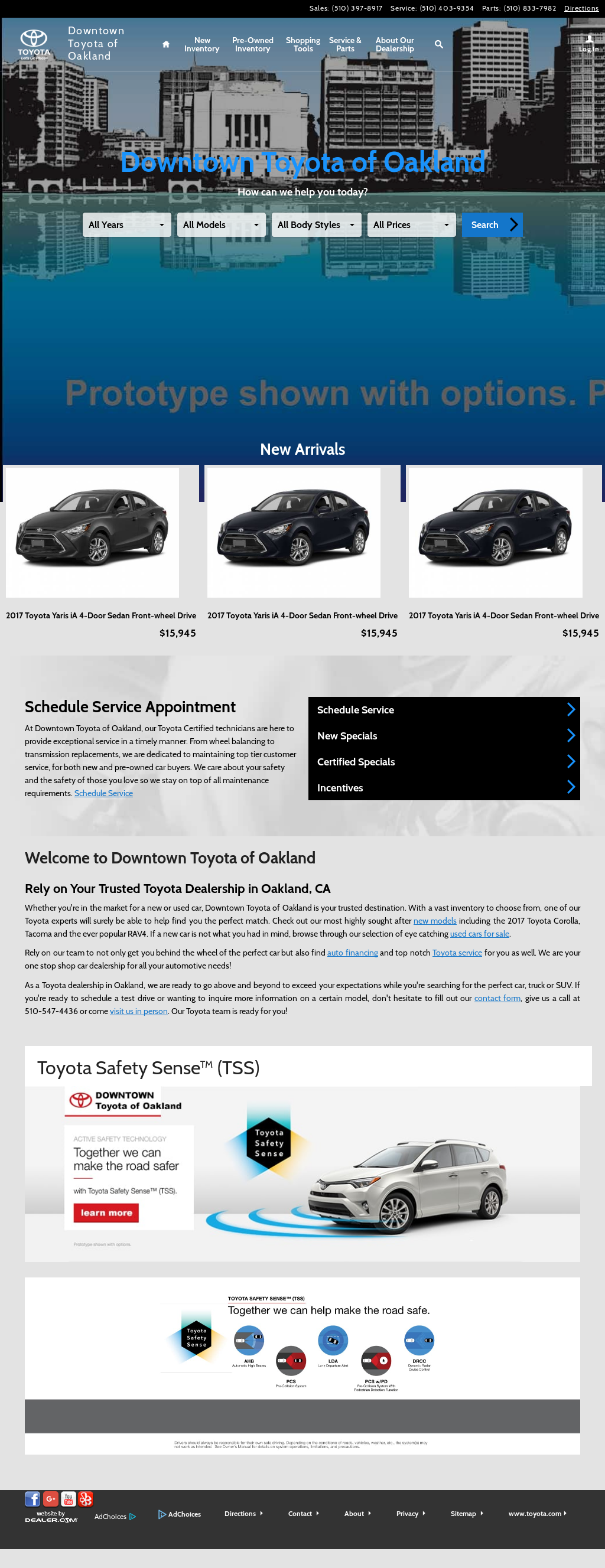 Downtown Toyota Of Oakland Website History