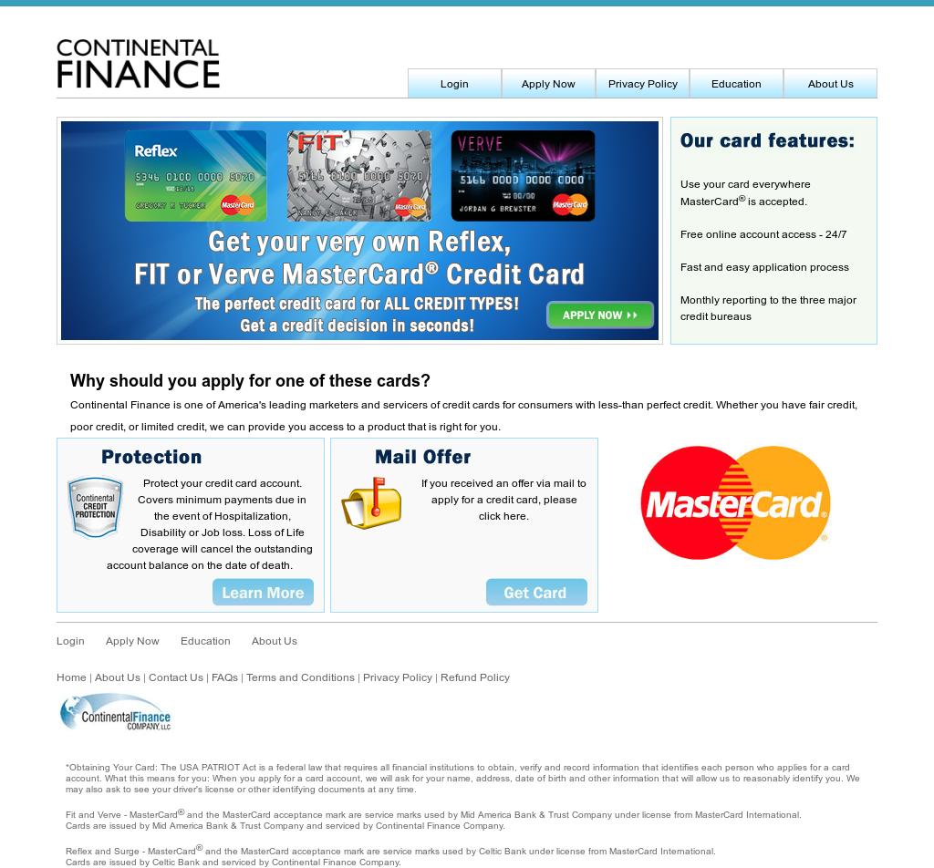 reflex credit card application