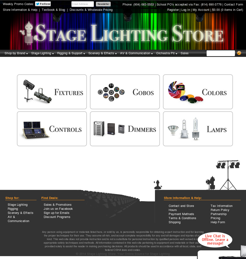 Stage Lighting Store Website History